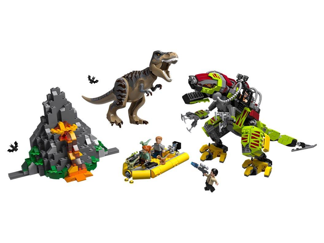 T Rex Vs Dinosaurio Robotico 75938 Jurassic World Oficial Lego Shop Ar Isla nublar e isla sorna podrán ser. t rex vs dinosaurio robotico 75938
