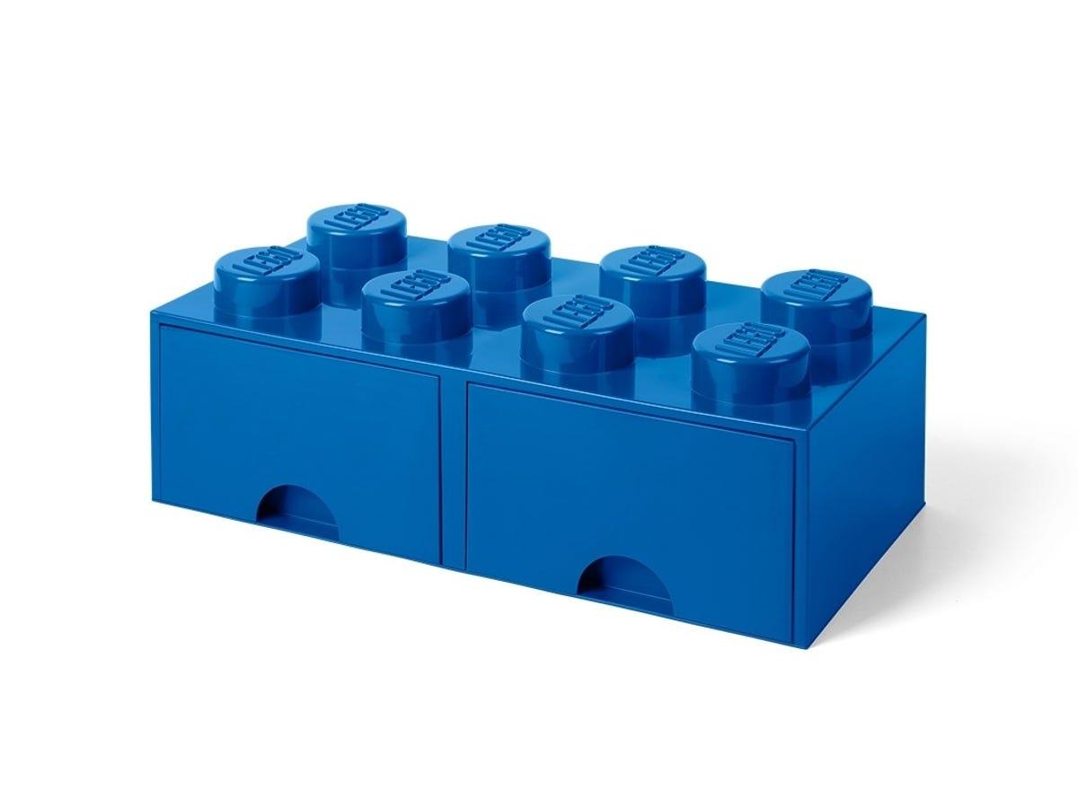Brique Bleue De Rangement Lego A Tiroir Et A 8 Tenons 5005399 Divers Boutique Lego Officielle Ca