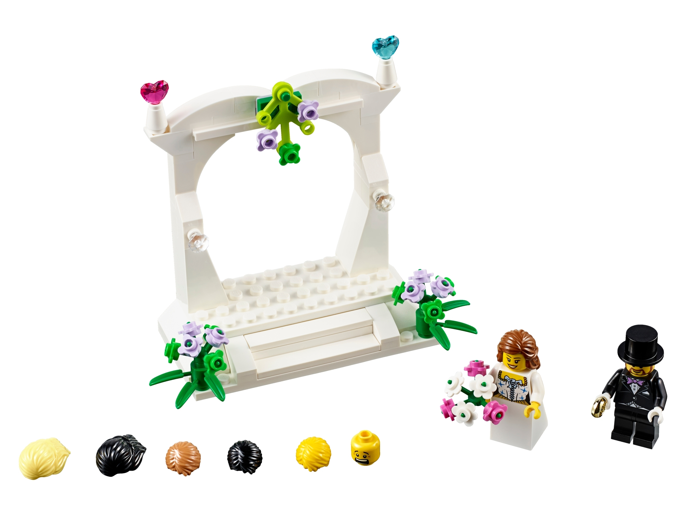 Lego 40165 Wedding Cake Topper Favor Set Bride /& Groom Minifigs 2016 NEW