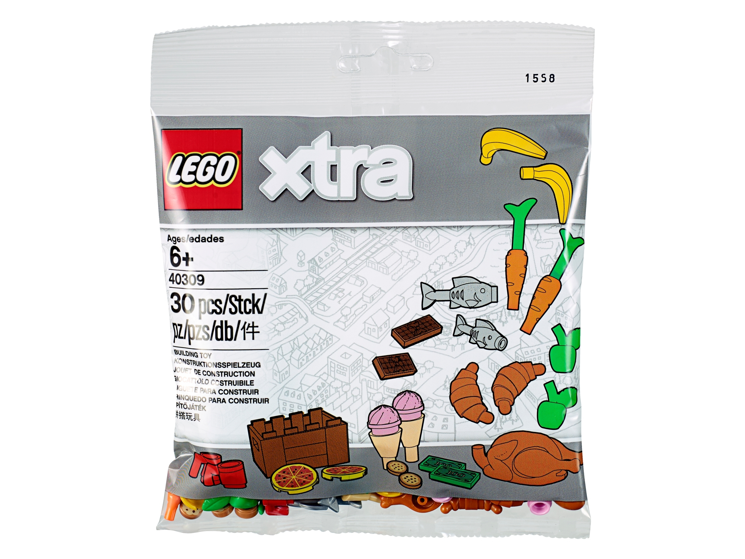 Brick Compatible for Major Brands Toy Food Accessory Pack
