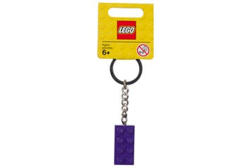Keyring 2x4 Stud Purple