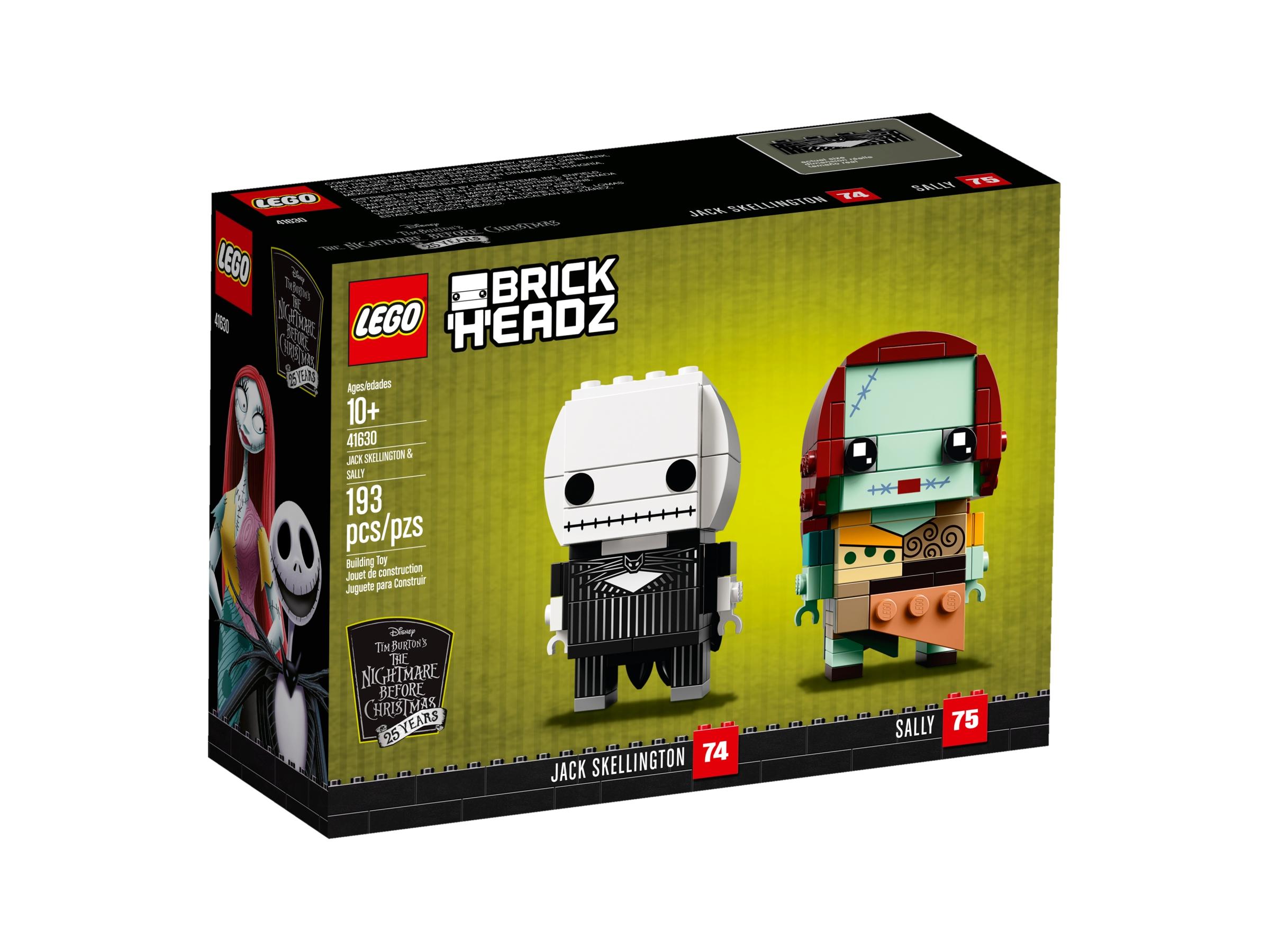 Lego Brickheadz Jack Skellington /& Sally Display Stand 41630