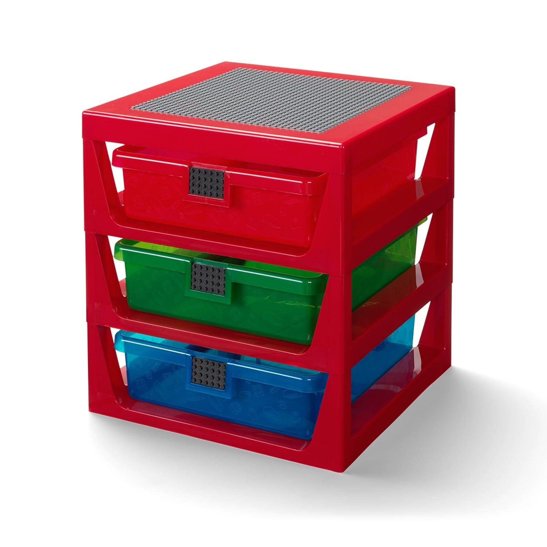 Transparent Red LEGO® Rack System