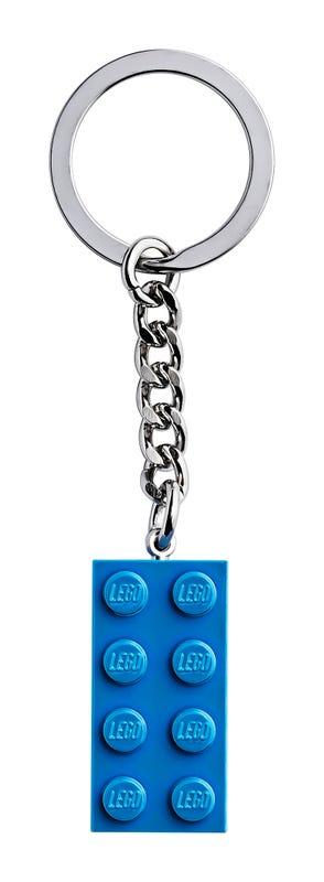 2x4 Bright Blue Key Chain