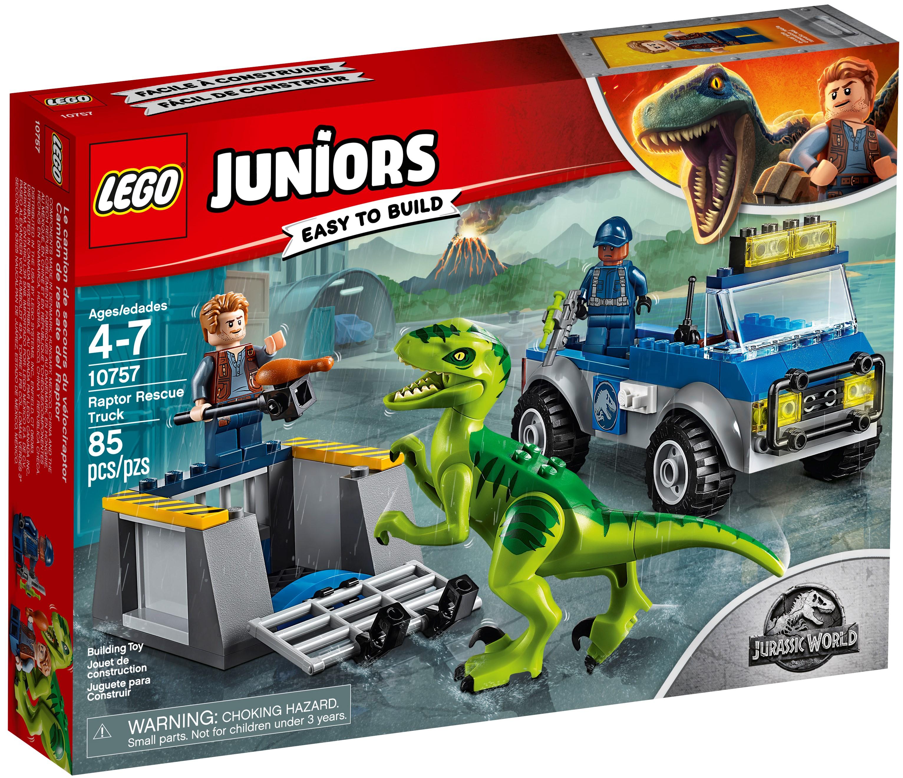Jurassic World Raptor Rescue Truck 10757 Brand New LEGO Juniors//4