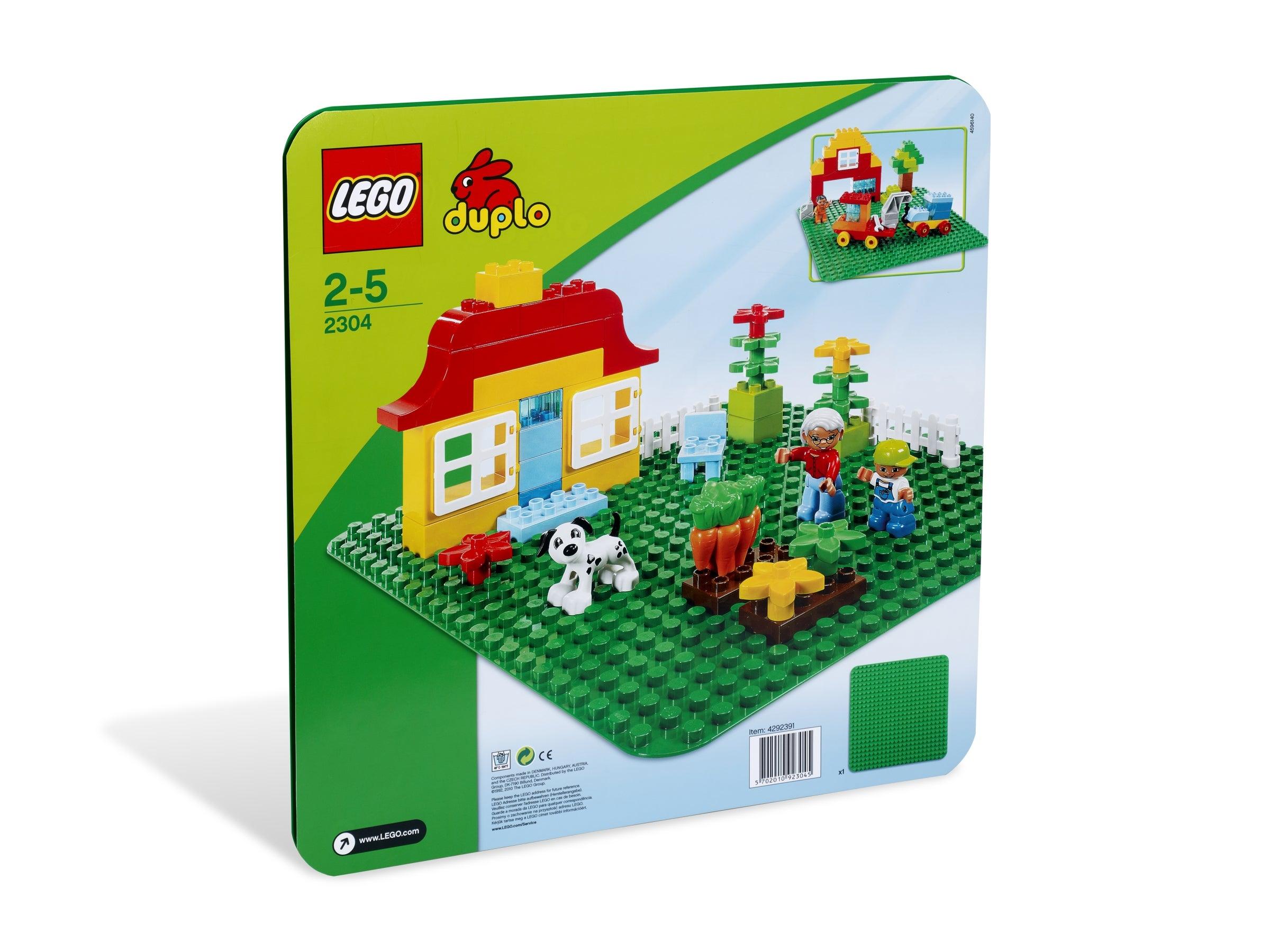 2 X 4-8 Bosses LEGO Duplo 4x Petit Plaque Brillant-Vert Plat Pierre