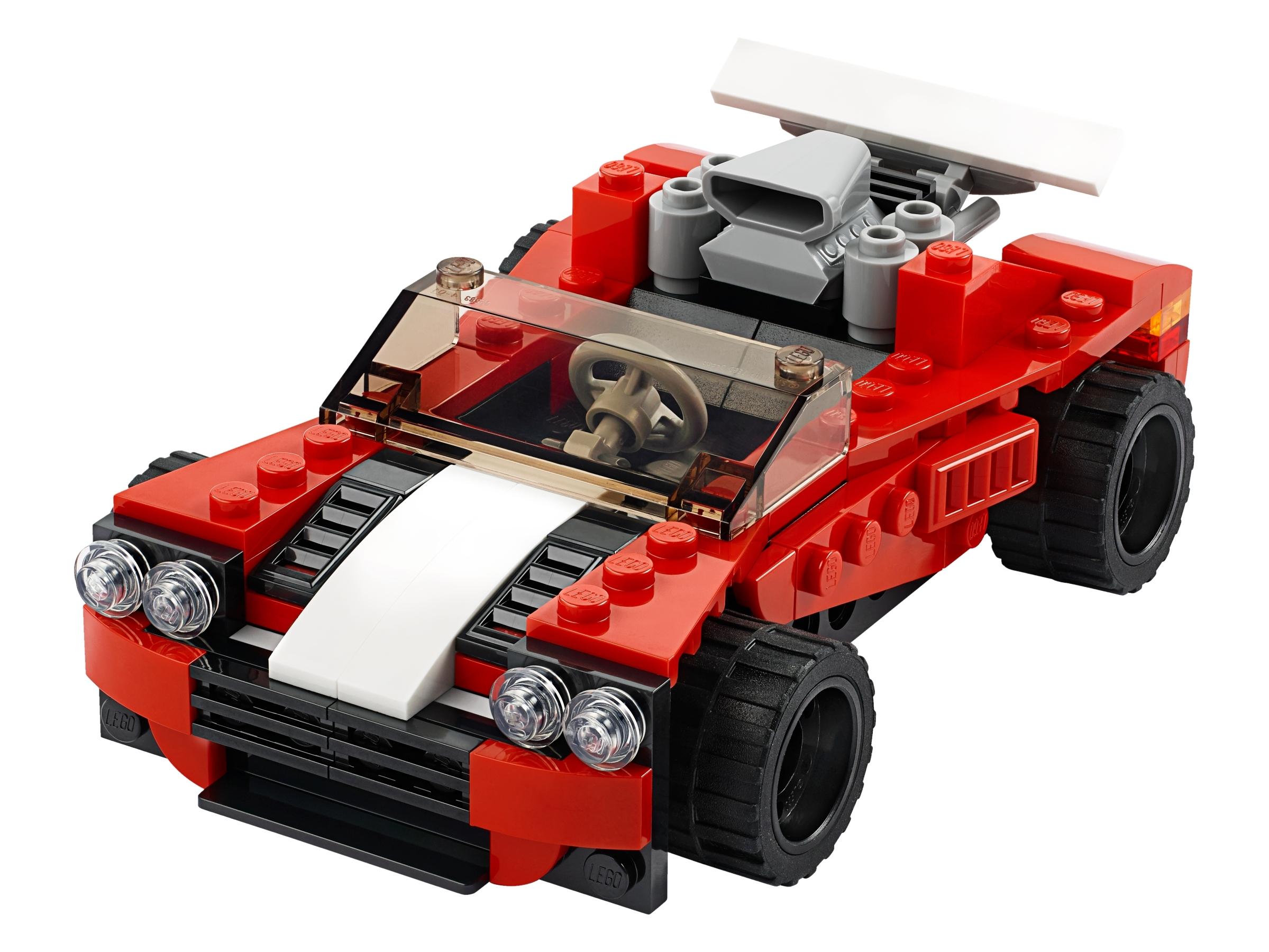 LEGO Creator 3in1 Sports Car Plane Hot Rod 31100 134 Piece Building Toy Age 6+