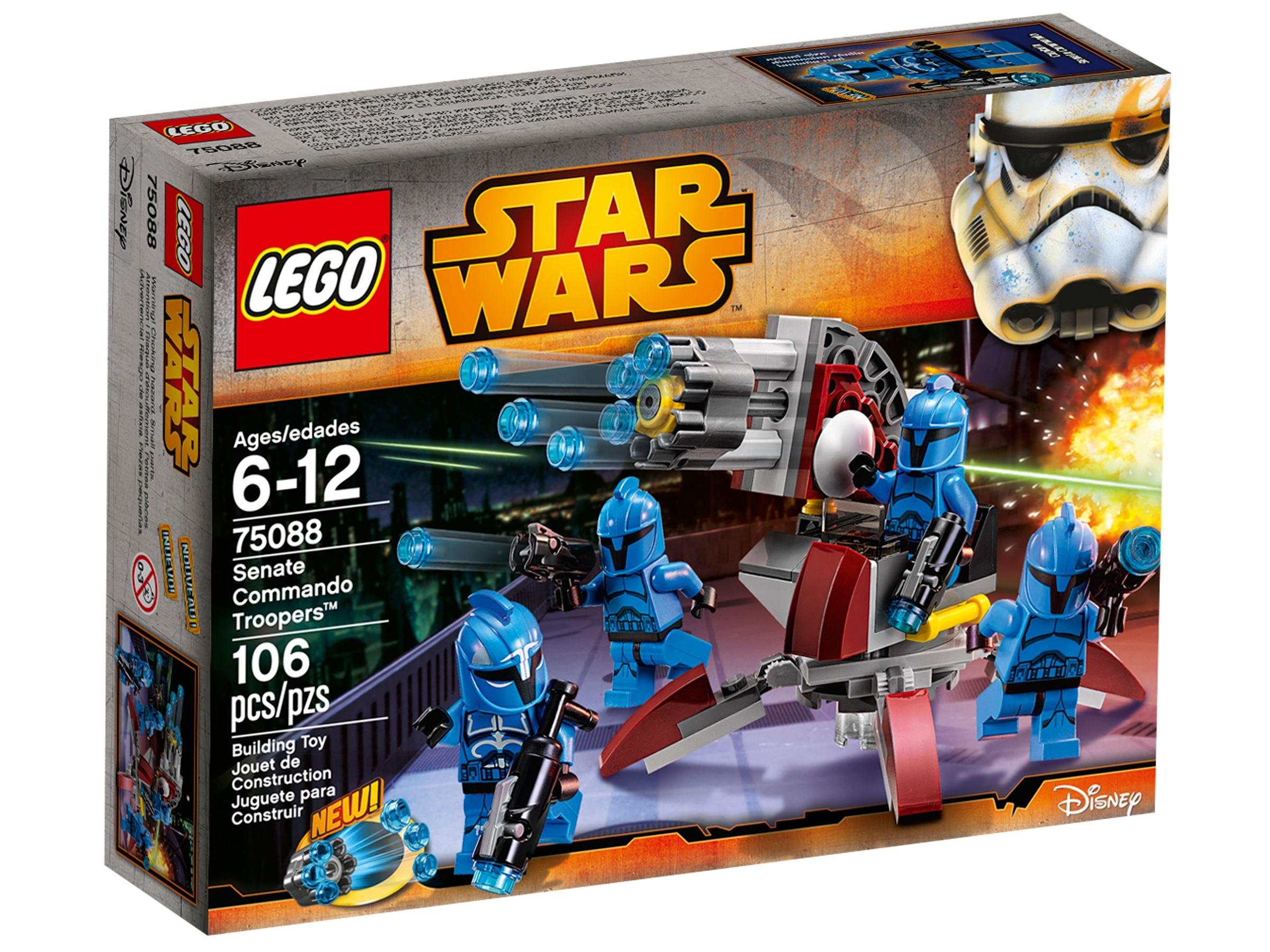 Lego Minifigure Star Wars SW0288 Senate Commando Captain 8128