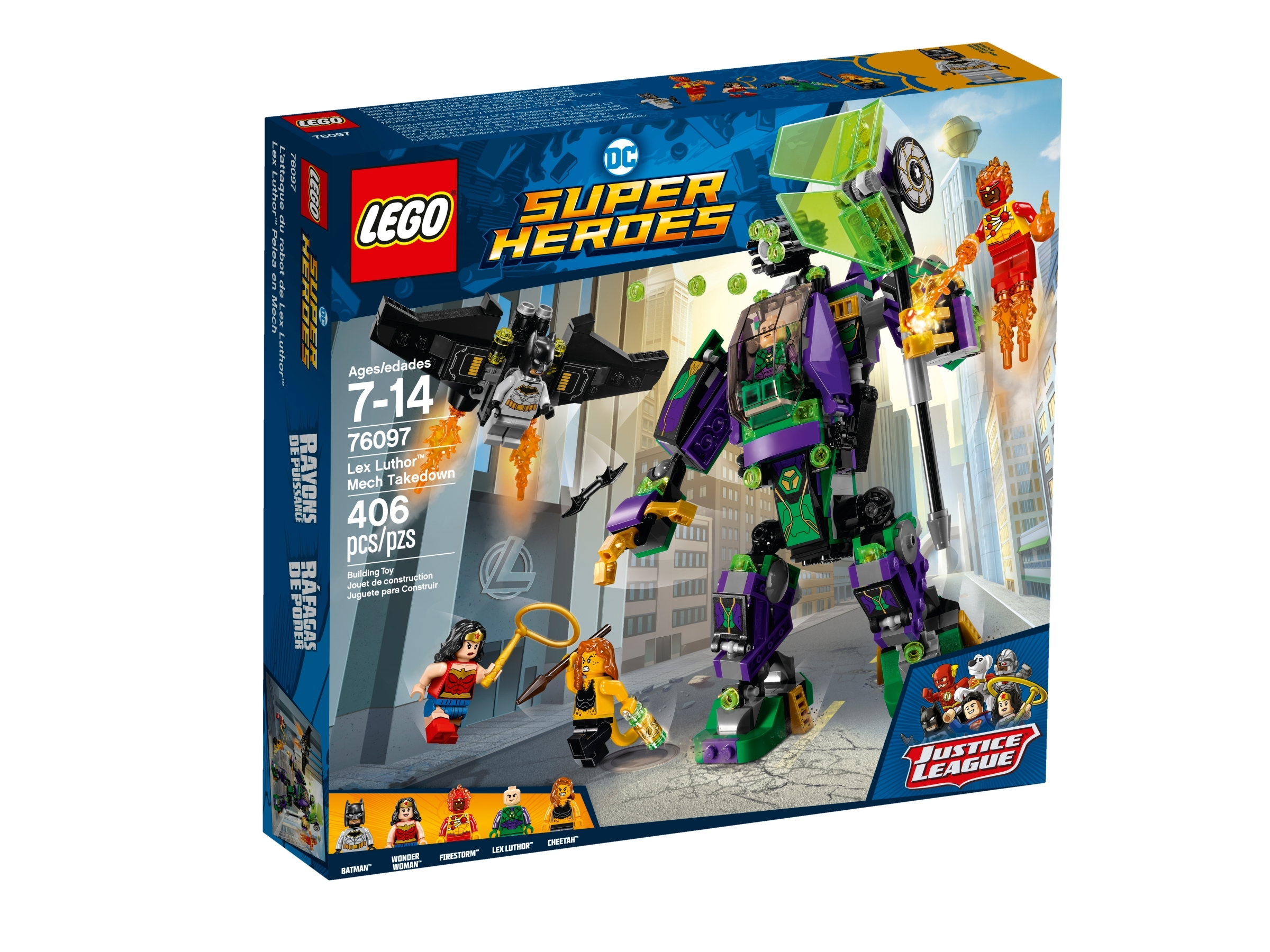 New Lego DC Super Heroes Lex Luthor Mech Takedown 76097 Lex Luthor Minifig