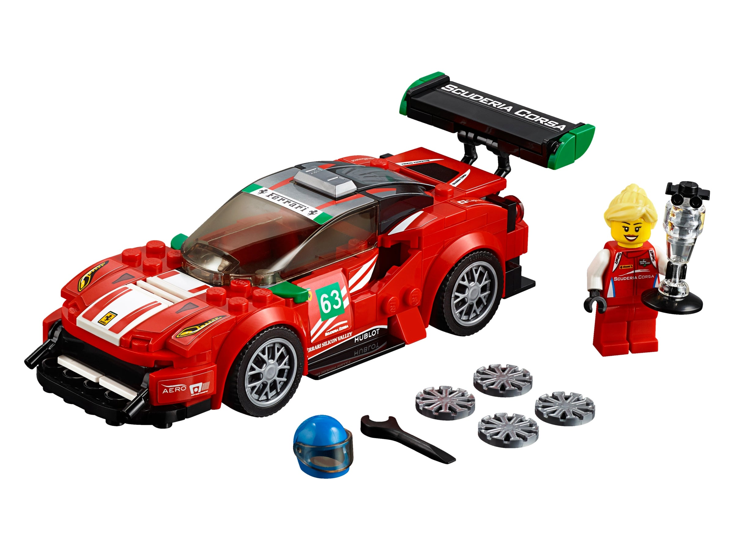 "LEGO New 75886 Speed Champions Ferrari 488 GT3 /""Scuderia Corsa/"" Factory Sealed"