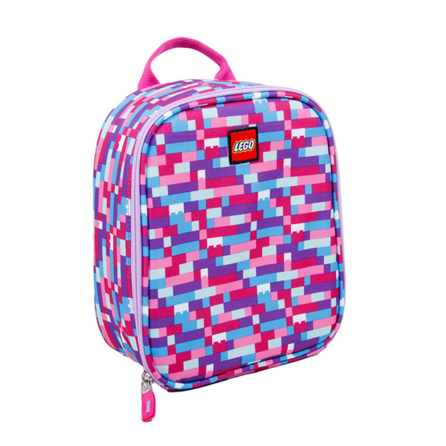LEGO® Pink/Purple Brick Print Lunch Bag