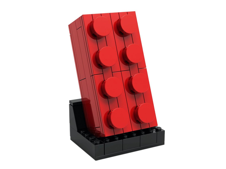 Ensemble Brique rouge 2x4 à construire
