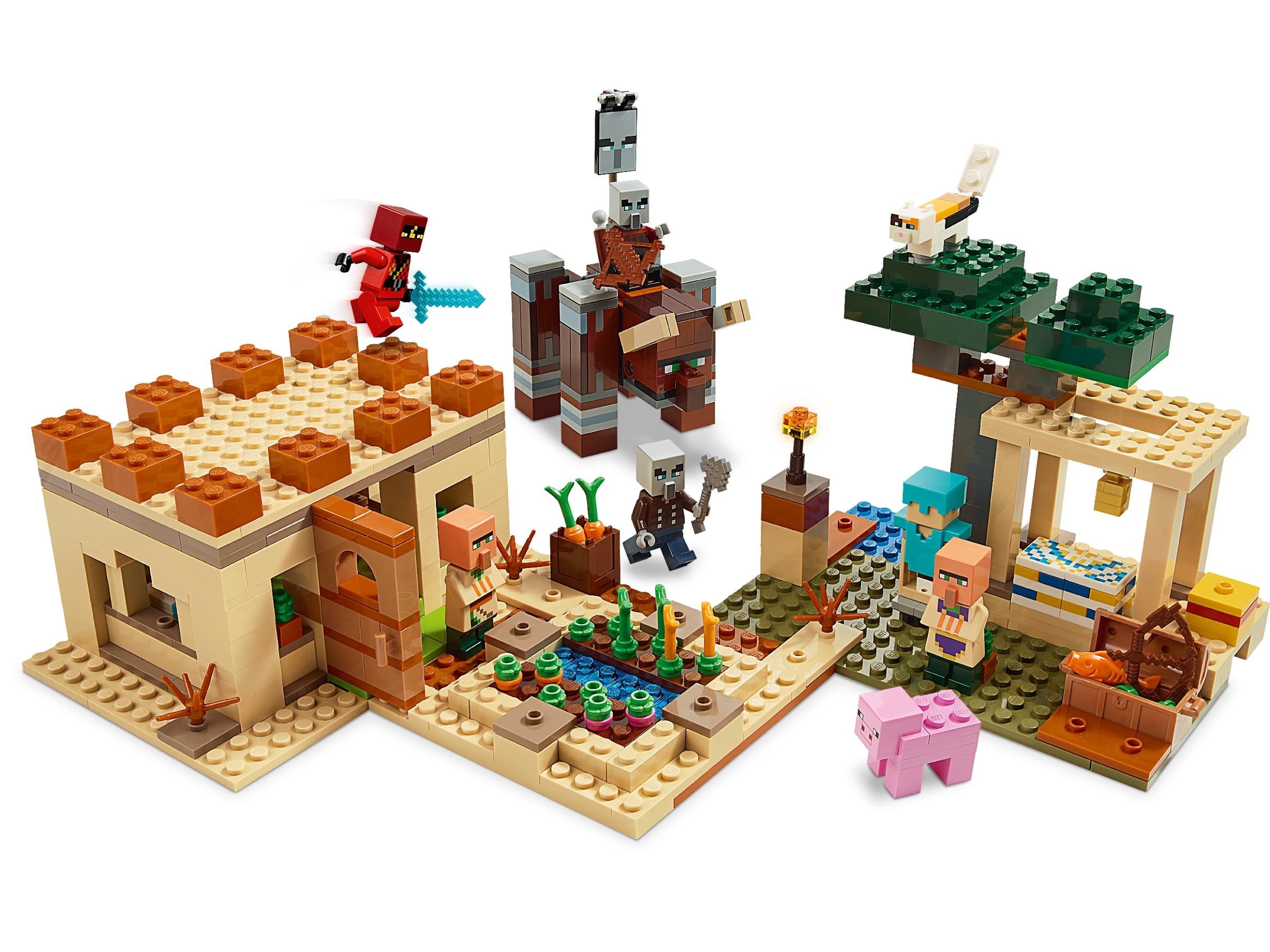 LEGO Minecraft Villager 2 Figur Minifig Dorfbewohner Pillager Überfall 21160