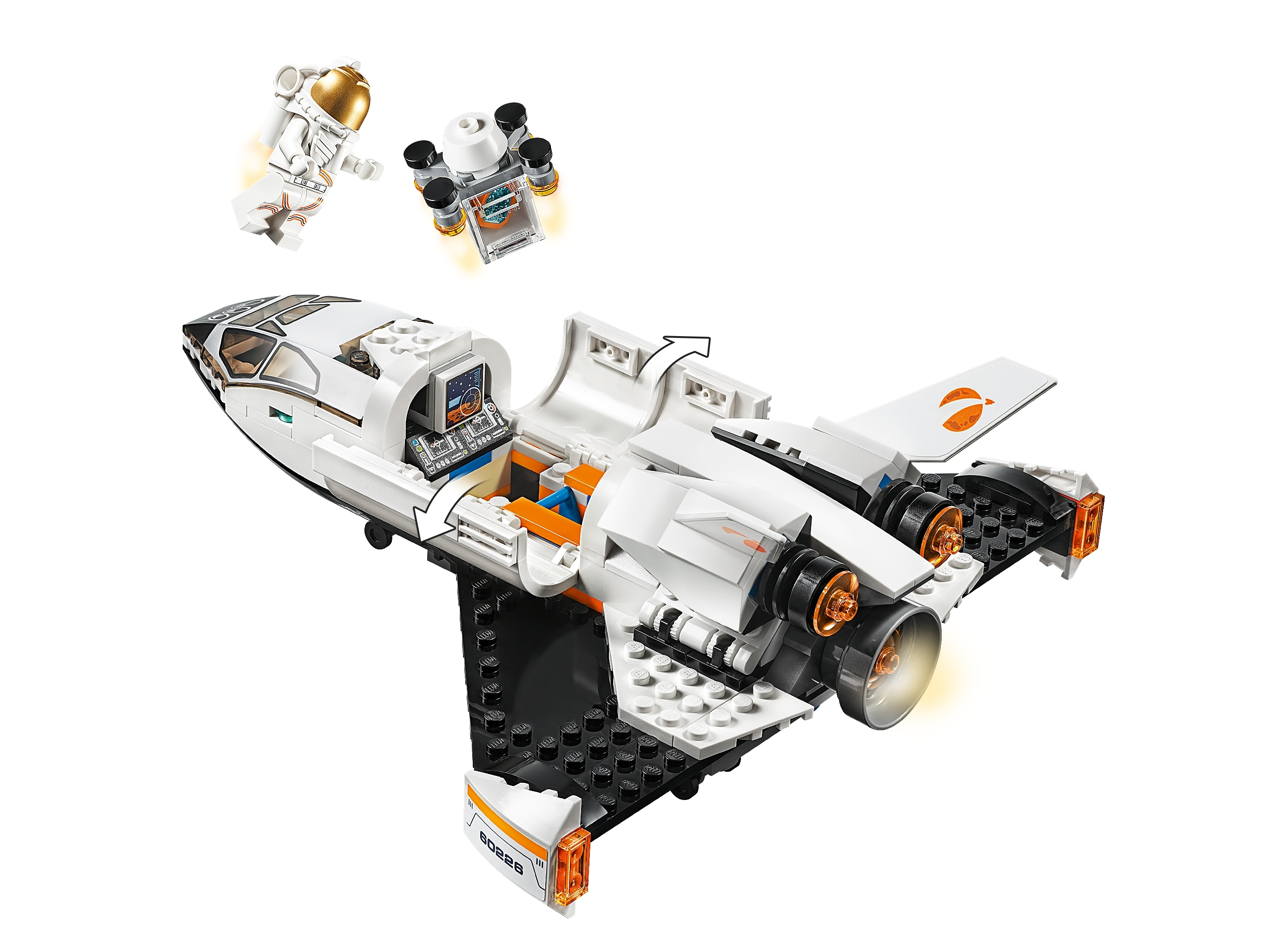 NEW LEGO CITY 60226 Mars Research Shuttle NASA Space Exploration Astronaut Rover
