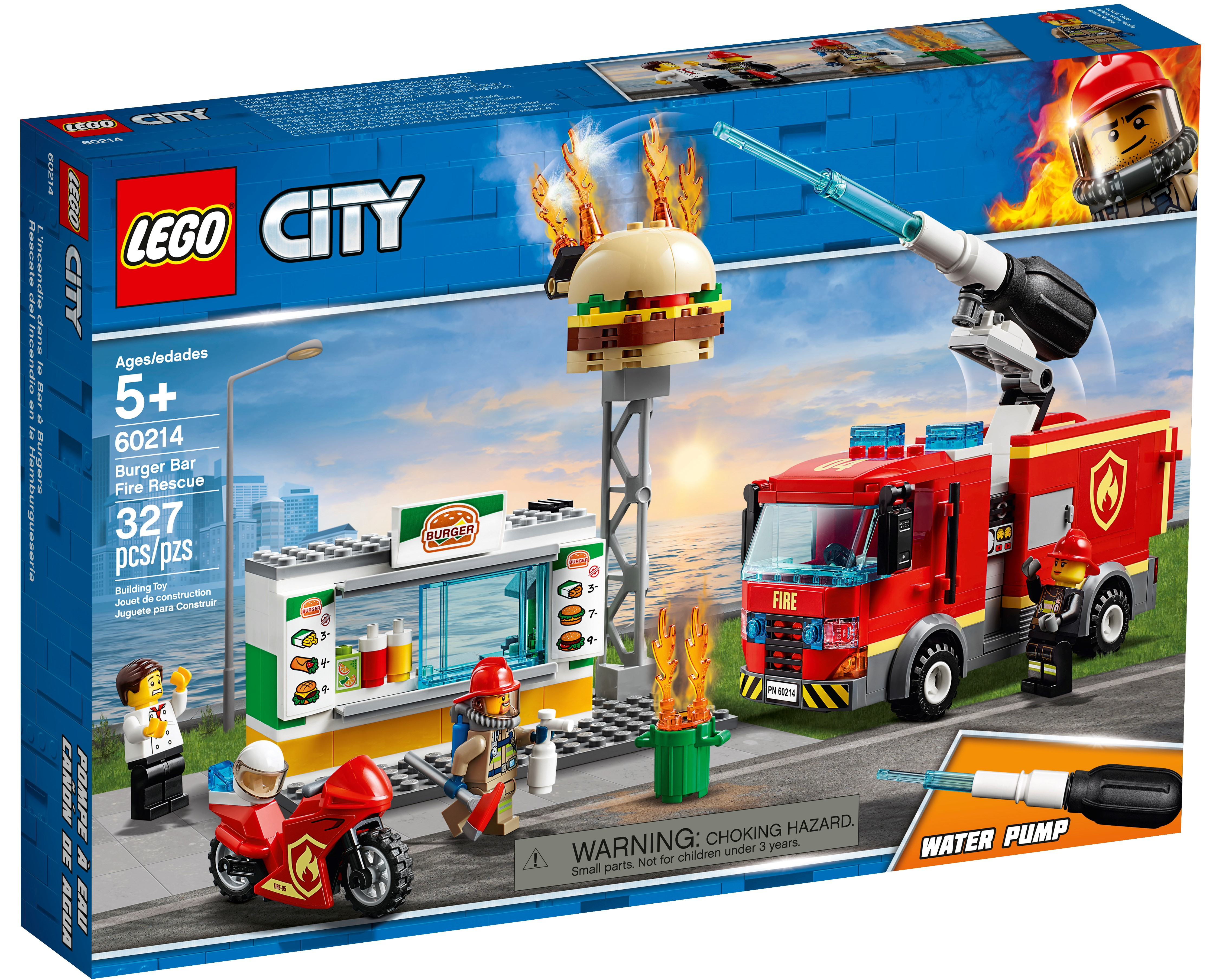 Burger Bar Fire Rescue 60214 City Buy Online At The Official Lego Shop Us