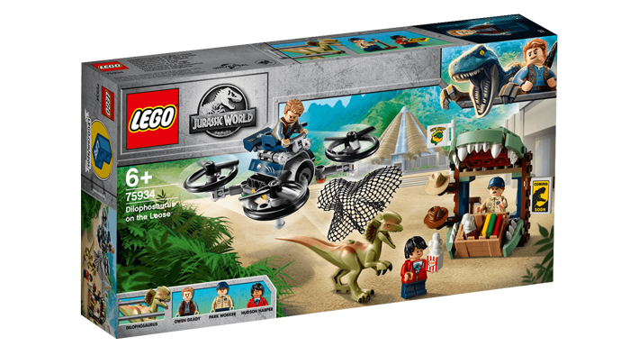 Imagen del set LEGO® Jurassic World Escape del Dilofosaurio (75934)