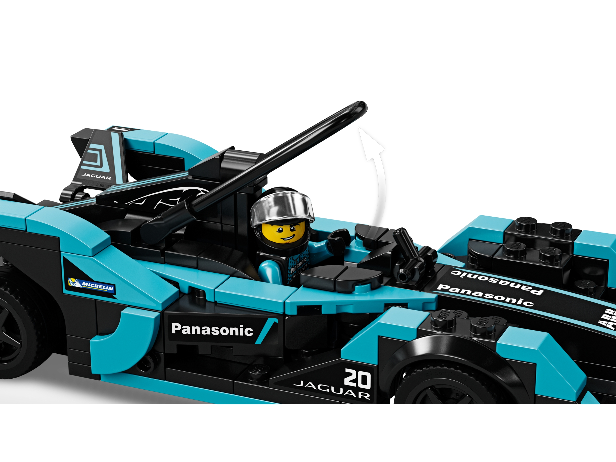 LEGO Formula E Panasonic Jaguar Racing Gen2 car and Jaguar I-PACE eTROPHY 76898