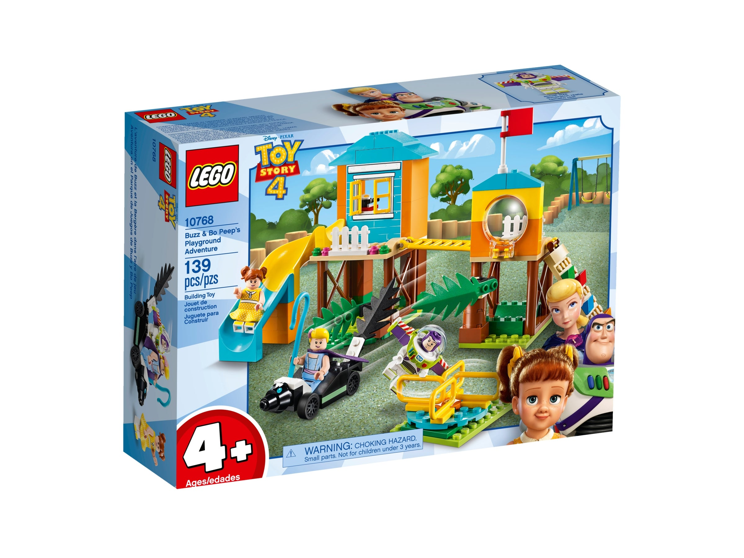 LEGO 10768 4 . Toy Story 4 Buzz And Bo Peep's Playground Adventure With Buzz..