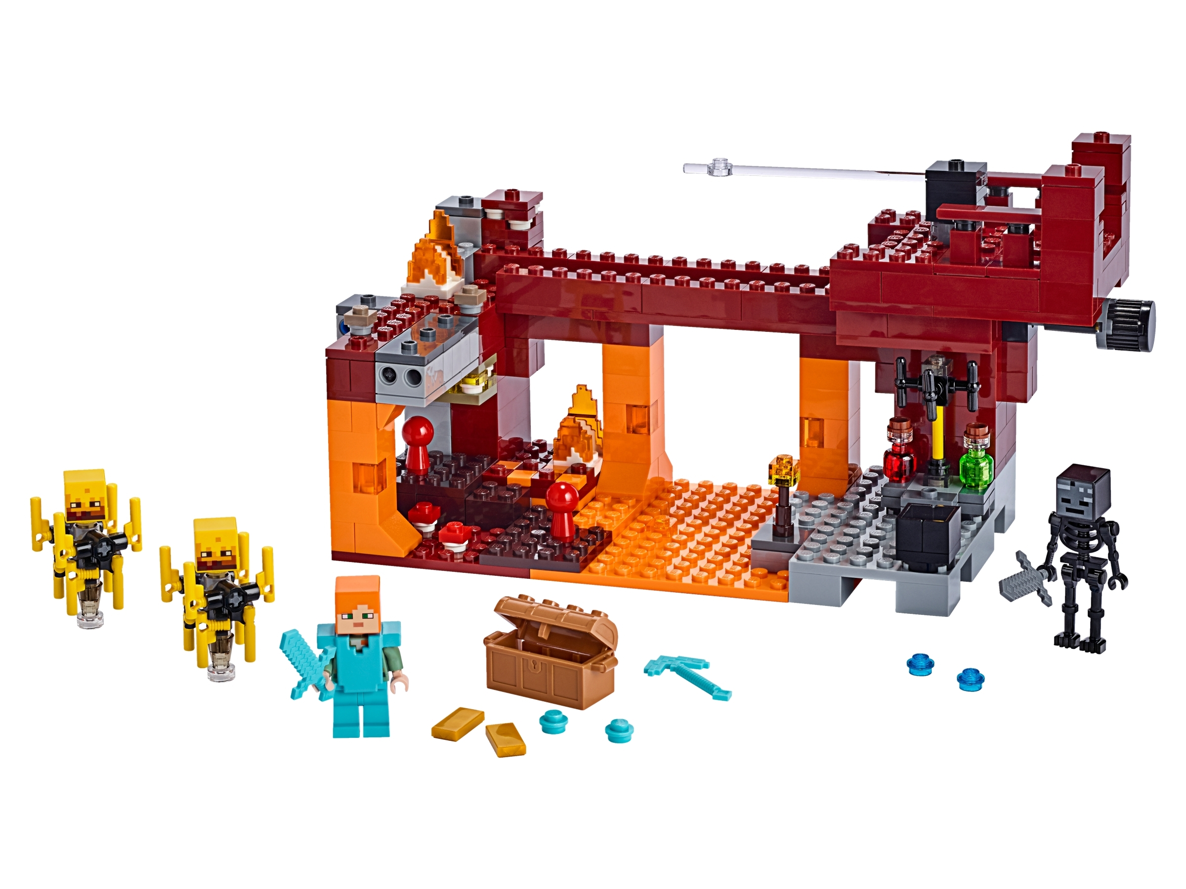 The Blaze Bridge 21154 Minecraft Buy Online At The Official Lego Shop Us
