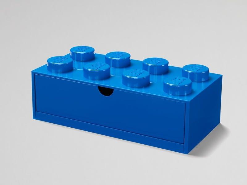 LEGO® 8-Stud Blue Desk Drawer