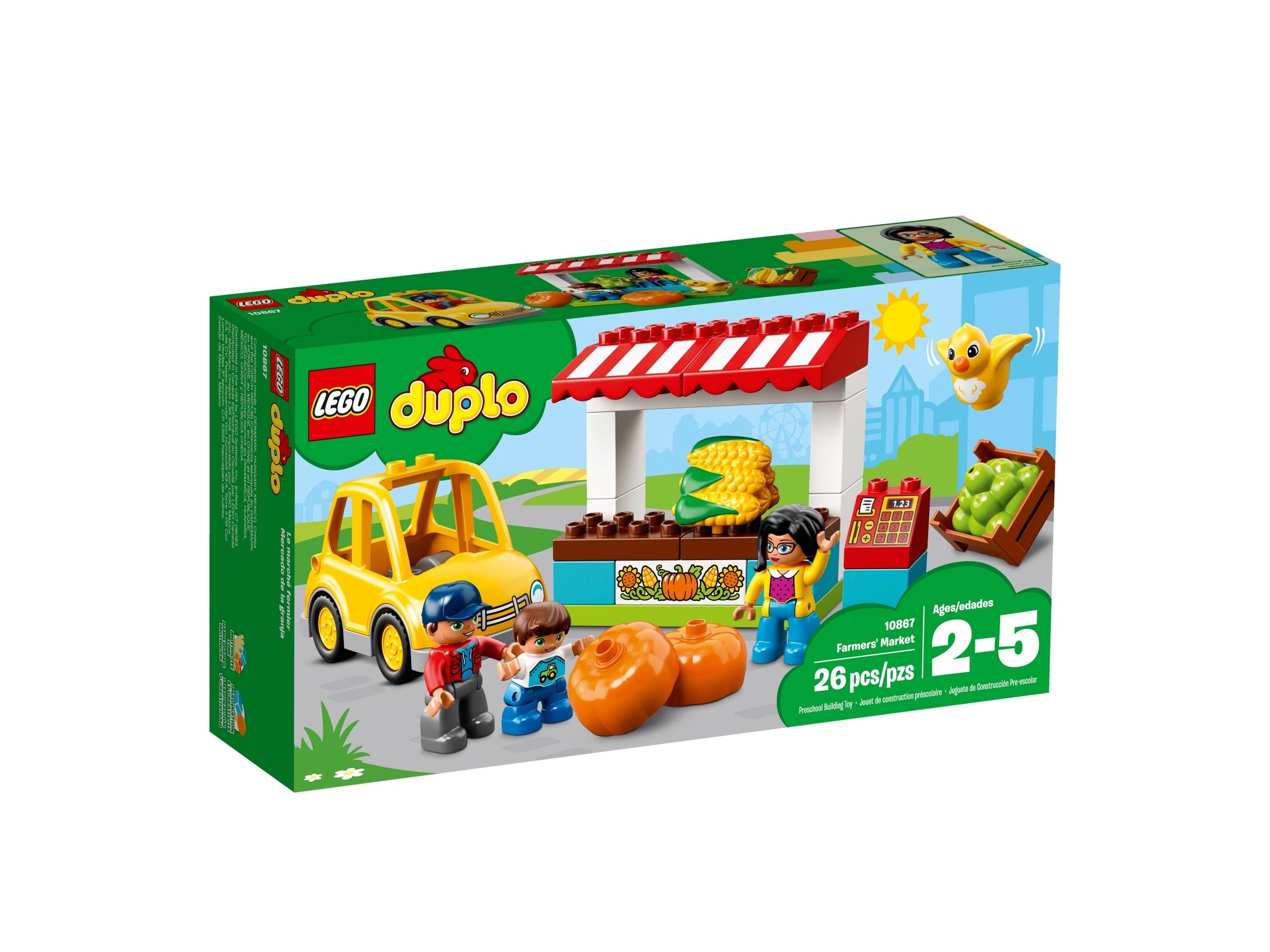 Lego Duplo CORN COBS-Supermarket-Red 1x2 2er High-Motif Stone