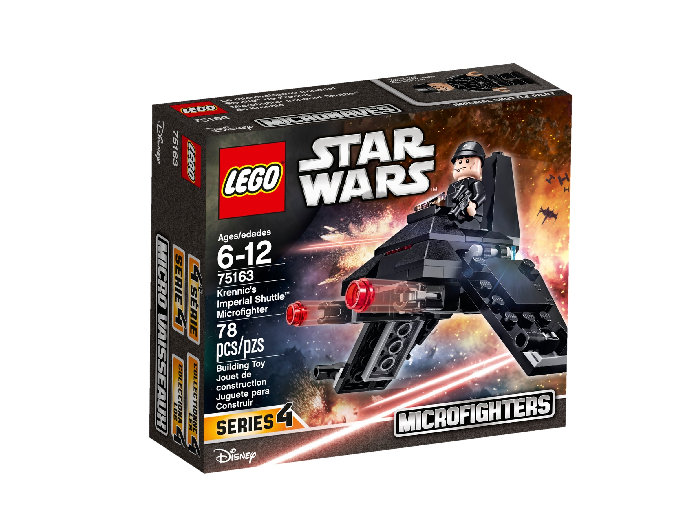 Lego STAR WARS #75163 Krennic/'s Imperial Shuttle Microfighters Building Toy Set