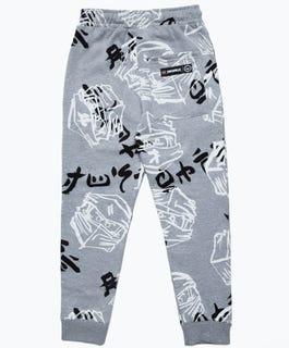 HYPE X LEGO® NINJAGO® Gray Just Hype Faces Kids' Sweatpants