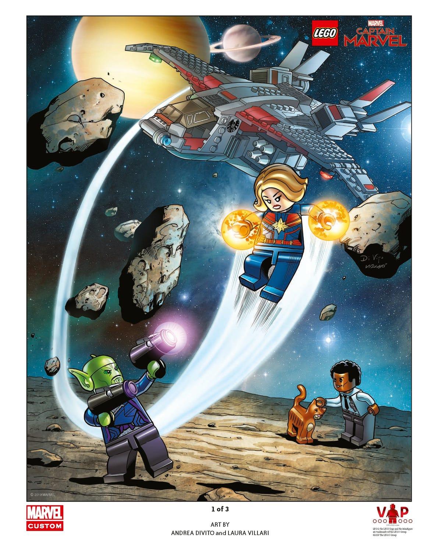 Tirage d'art LEGO® Captain Marvel 1 sur 3