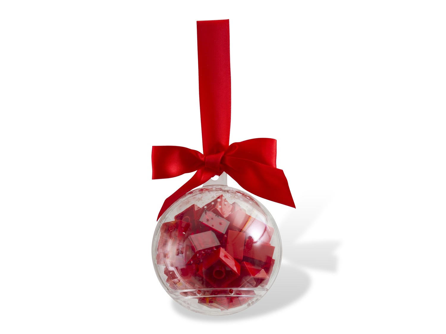 Holiday Ornament with Red Bricks