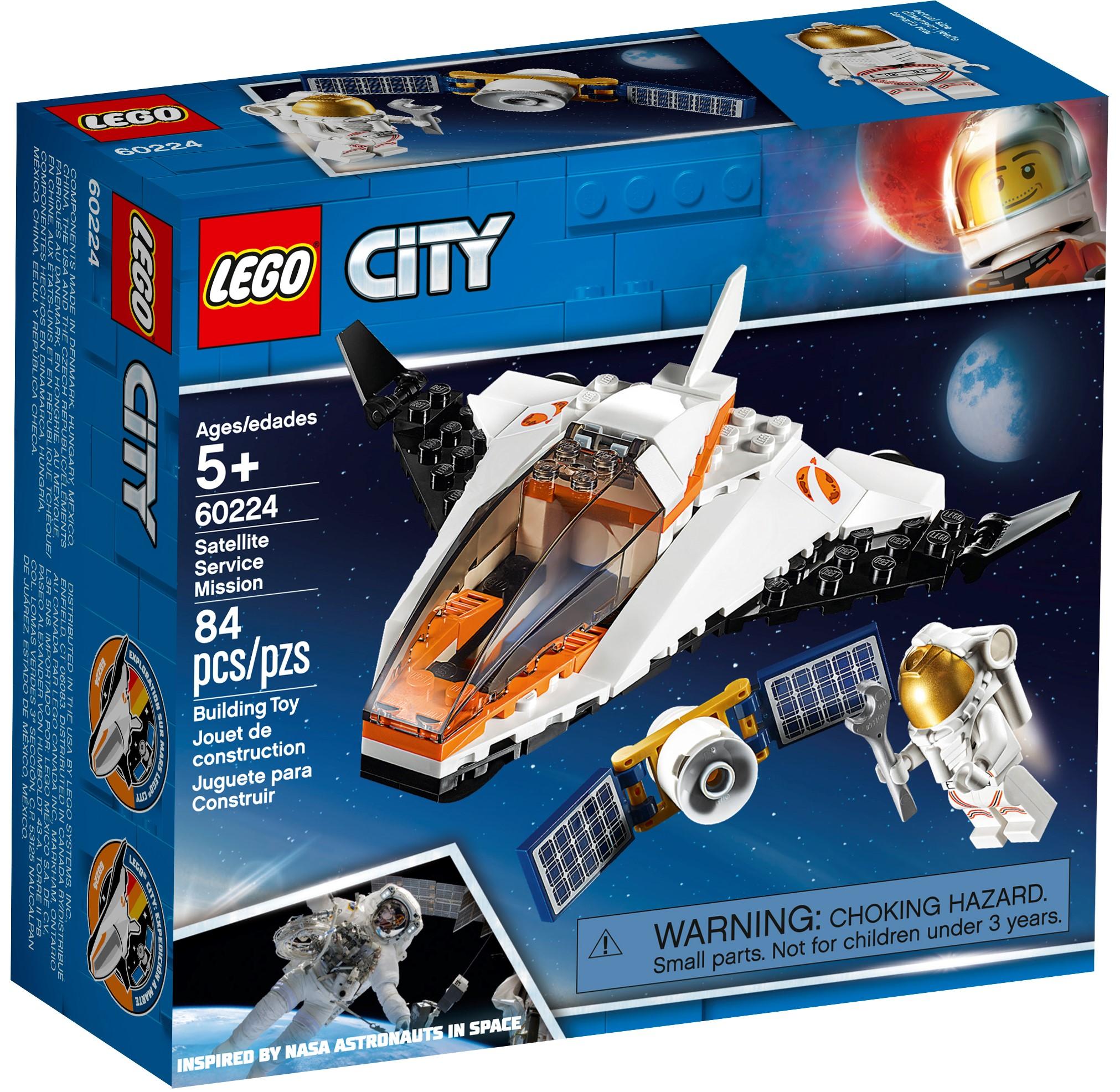 LEGO City Satellite Service Mission 84 Pcs Building Kit Space Shuttle Minifigure