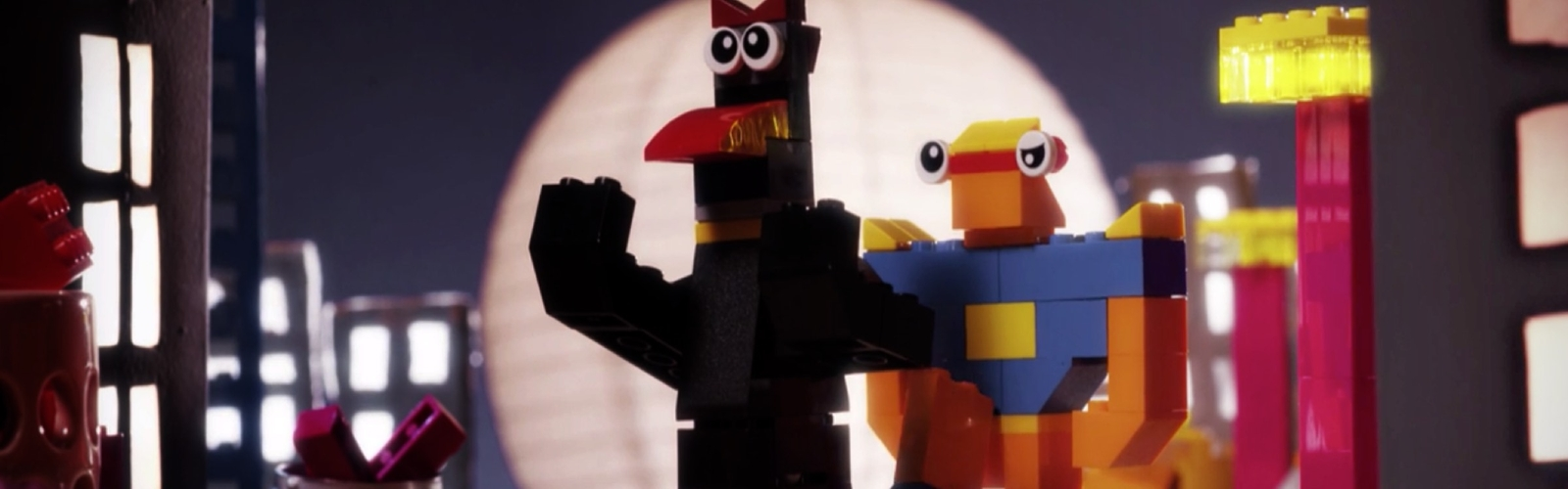 Superhero Animals build from LEGO Classic Bricks