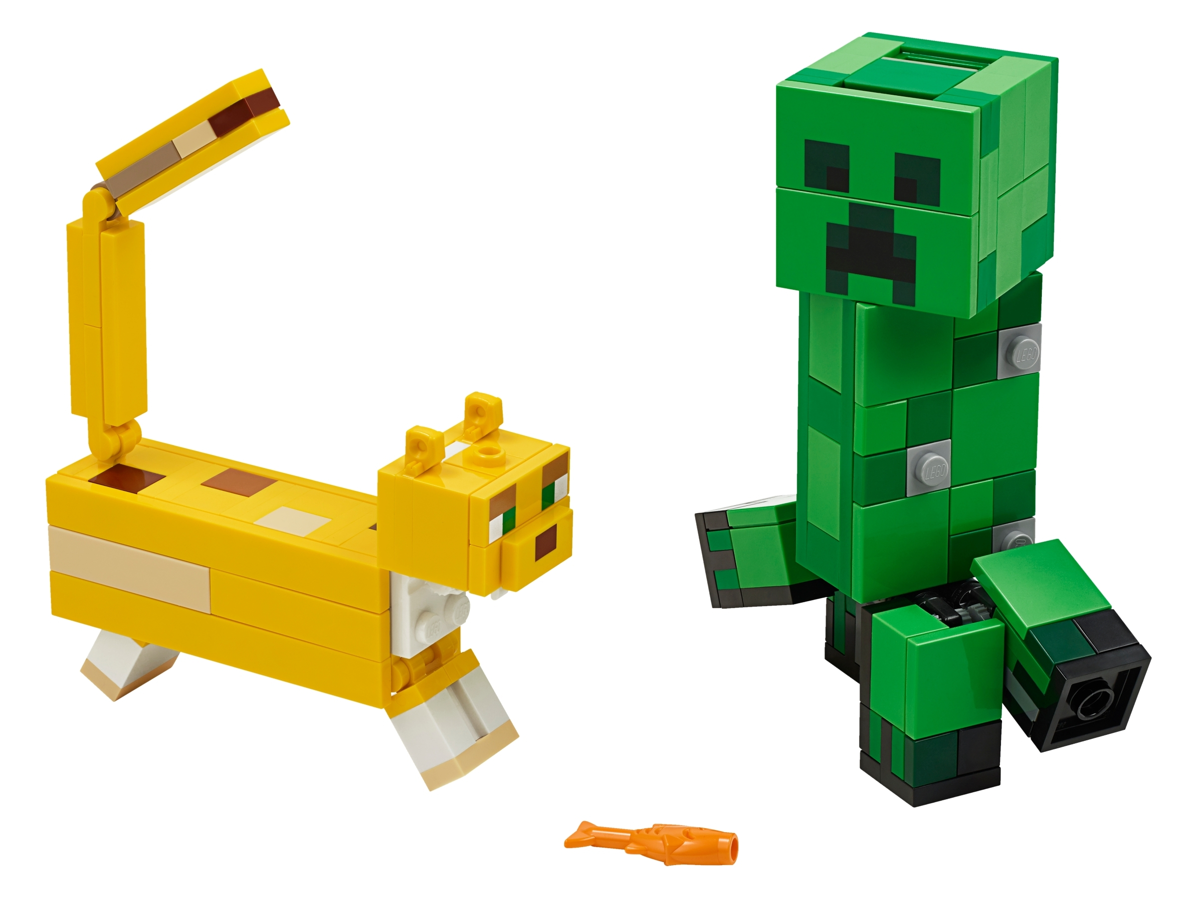 LEGO 21156 Minecraft BigFig Creeper And Ocelot Characters Building Toy Playset