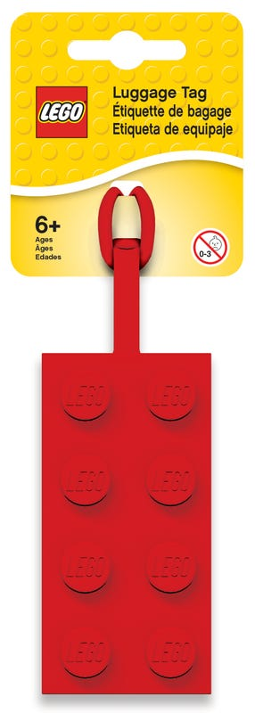 2x4 Red Luggage Tag