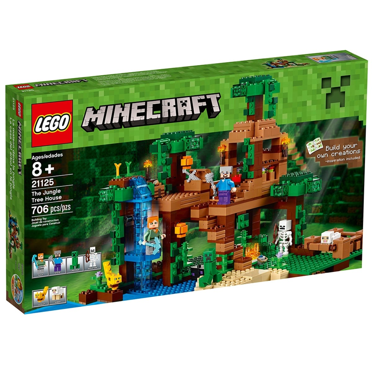 The Jungle Tree House 21125 Minecraft Buy Online At The Official Lego Shop Fr