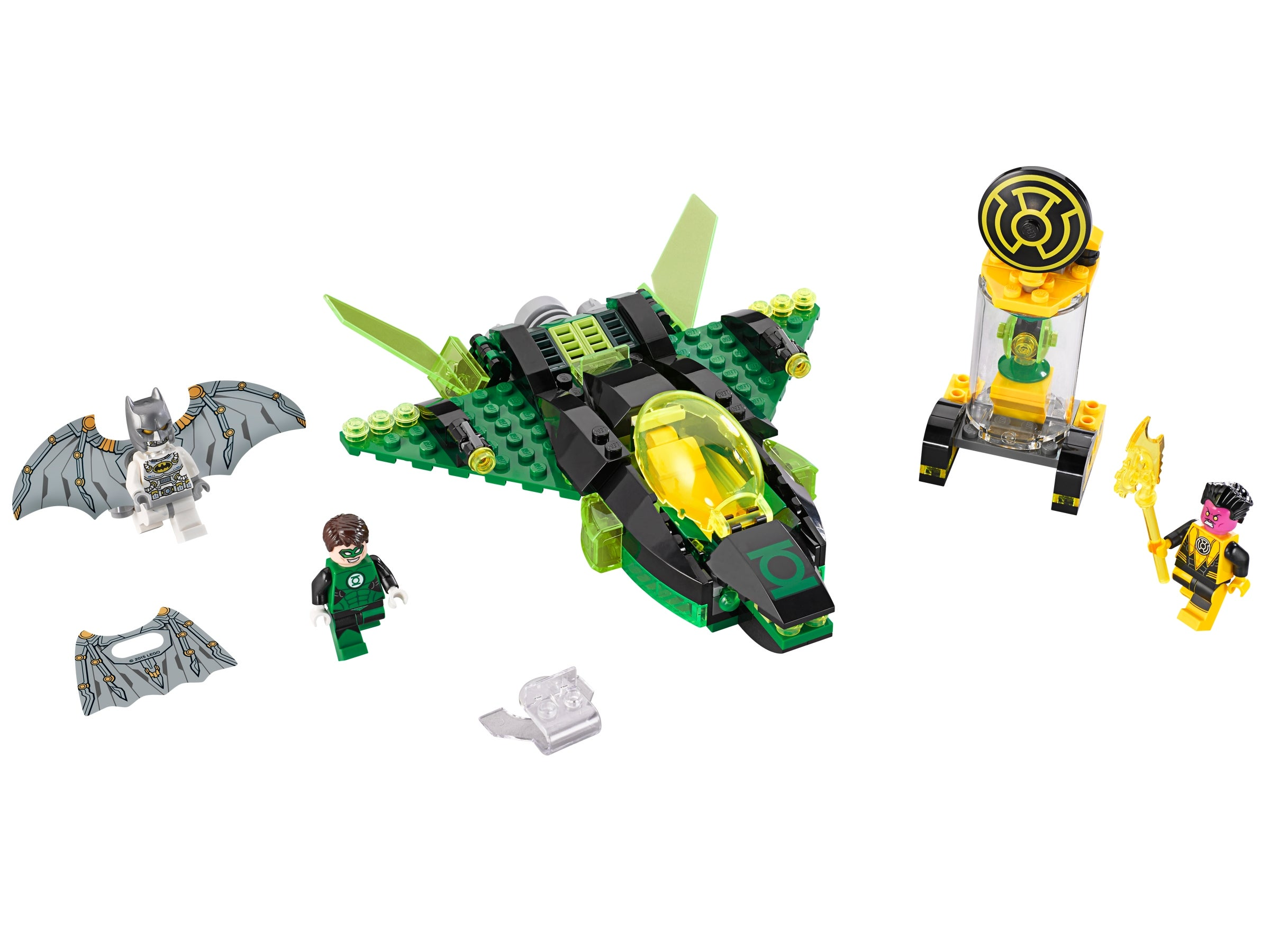 Lego Green Lantern 76025 White Hands Super Heroes Justice League Minifigure