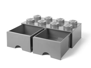 LEGO® 8-Stud Medium Stone Gray Storage Brick Drawer