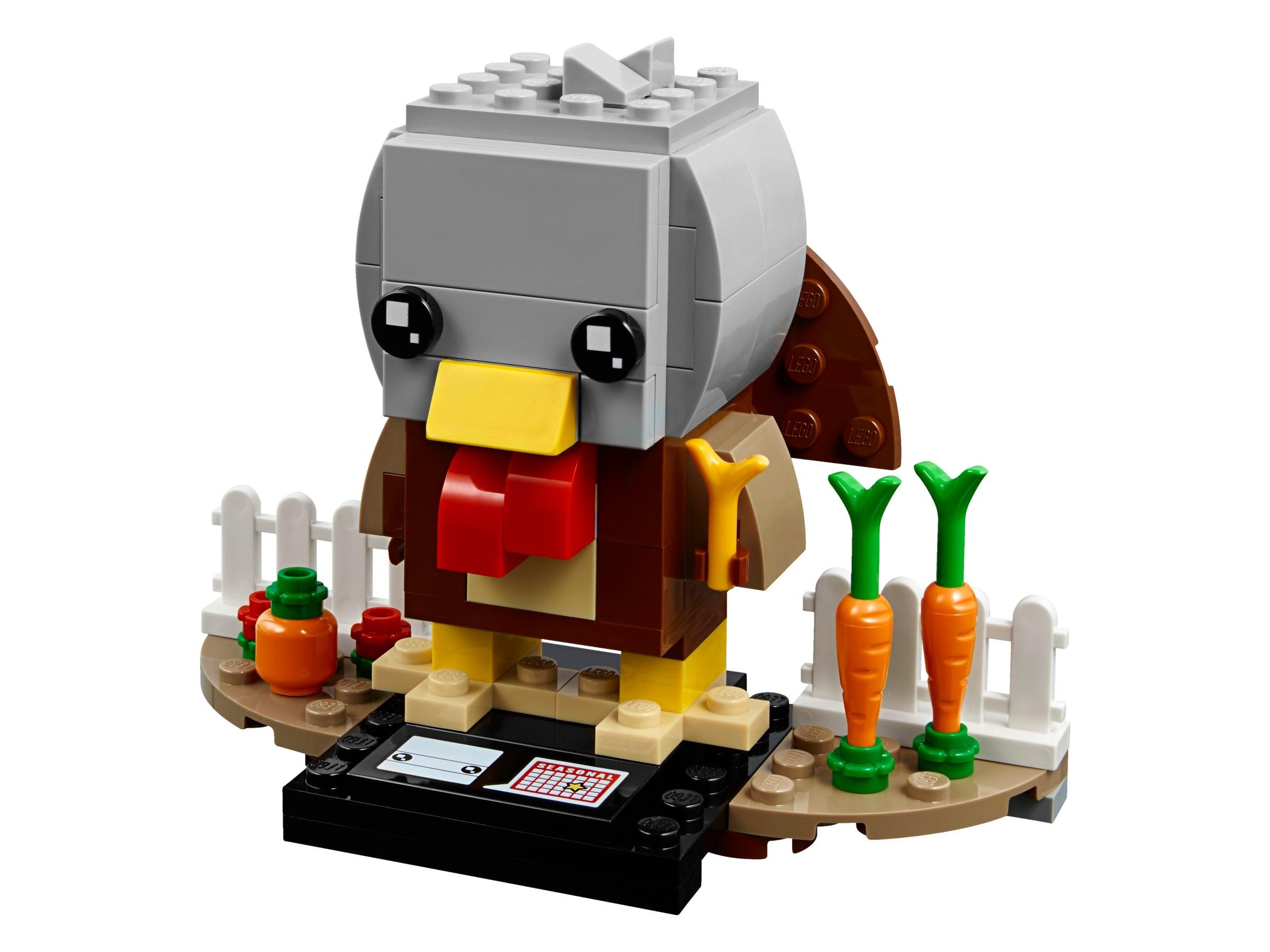 B3 Customs Custom LEGO Thanksgiving Turkey Building Kit