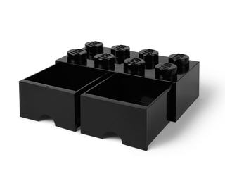 LEGO® 8-Stud Black Storage Brick Drawer