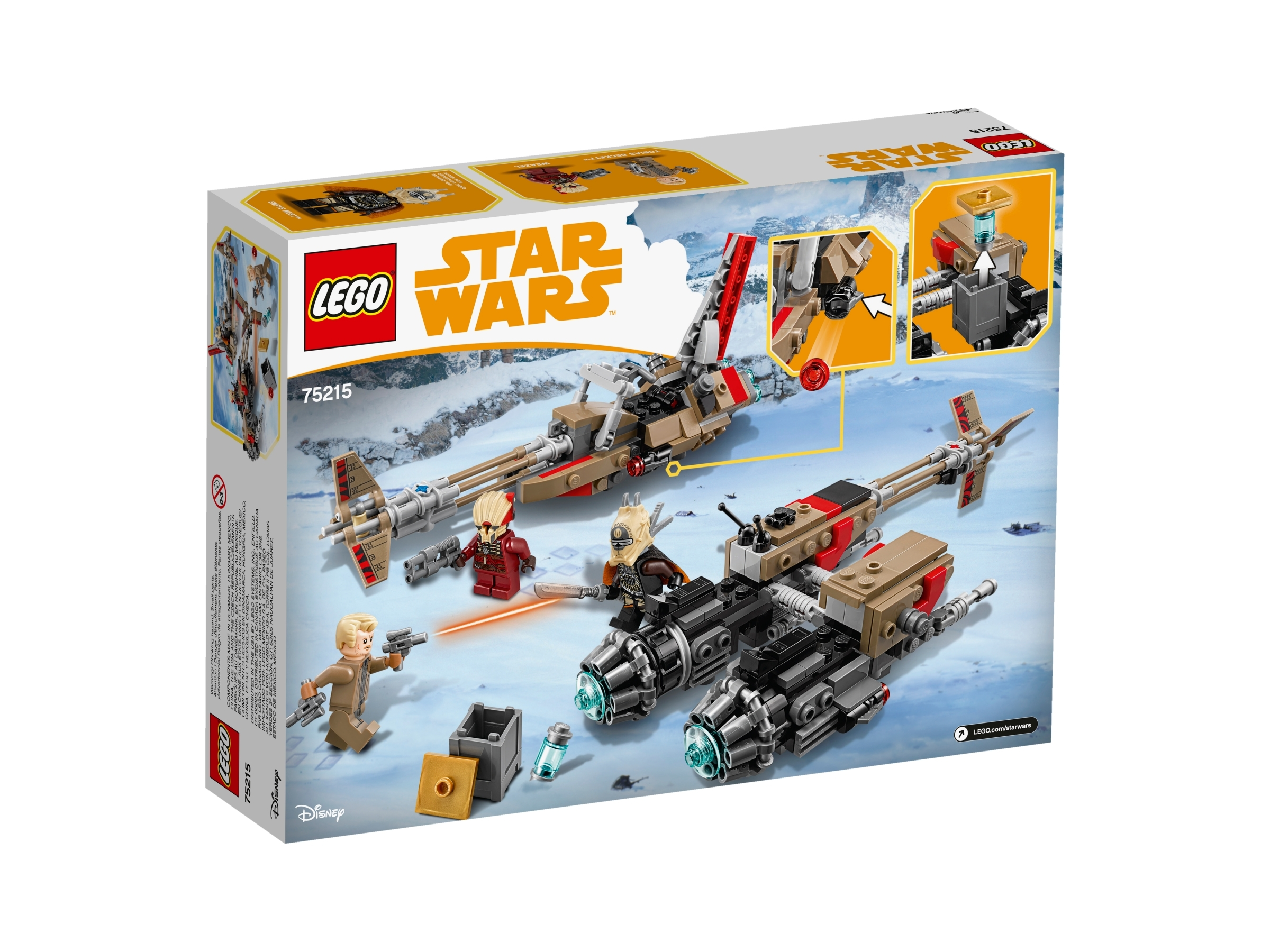 75215 CLOUD-RIDER SWOOP BIKES star wars lego NEW legos set ENFYS NEST solo movie