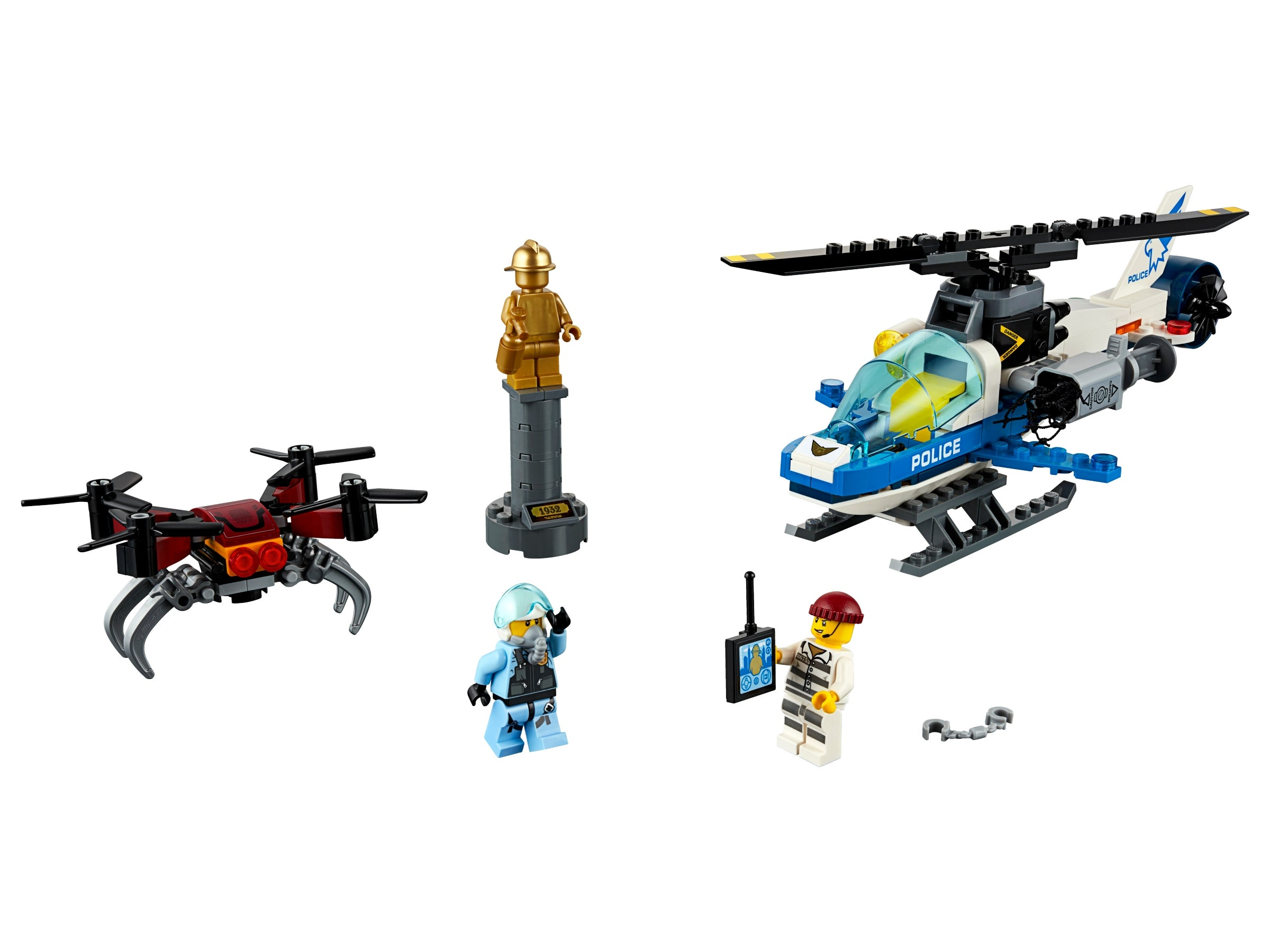 192 Piece LEGO City Sky Police Drone Chase 60207 Building Kit New 2019