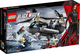 La poursuite en hélicoptère de Black Widow