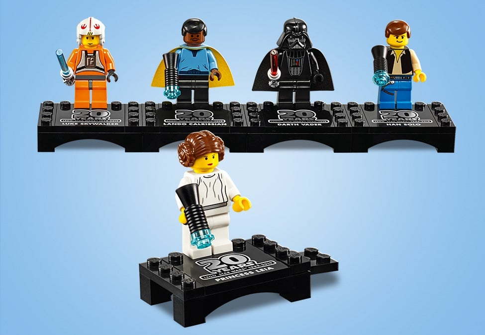Lego Star Wars 20th Aniversário Princesa Leia Minifig Nova do Conjunto LEGO #75243