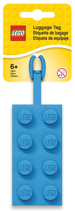 2x4 Blue Luggage Tag