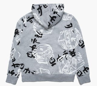 HYPE X LEGO® NINJAGO® Grey Just Hype Faces Adults' Pullover Hoodie