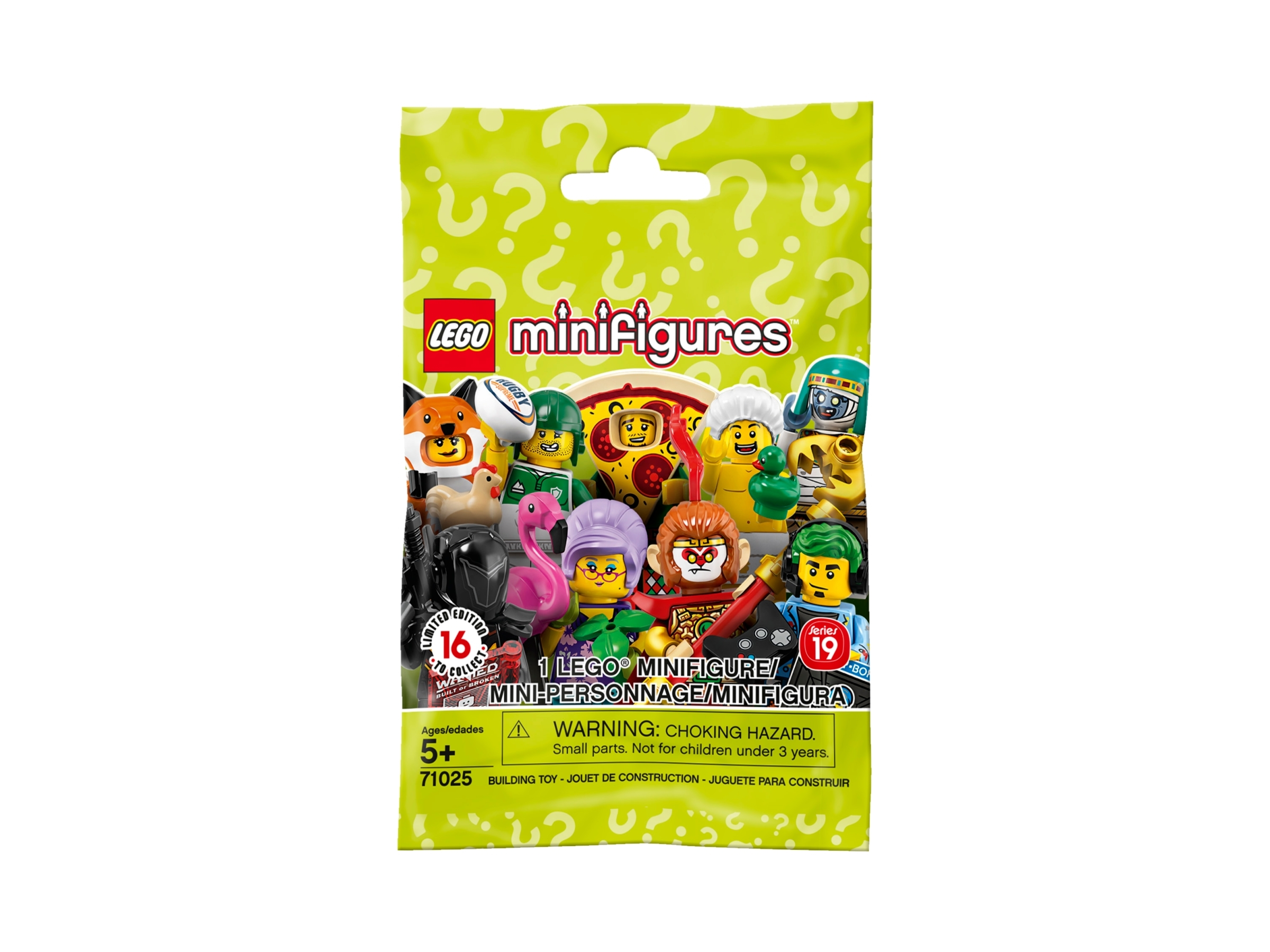 LEGO SERIES 19 Minifigures Blind Bag Lot of 5 Five Brand New /& Sealed 71025 LEGO