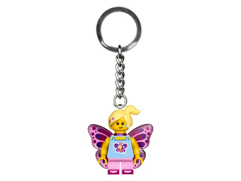 Butterfly Girl Key Chain