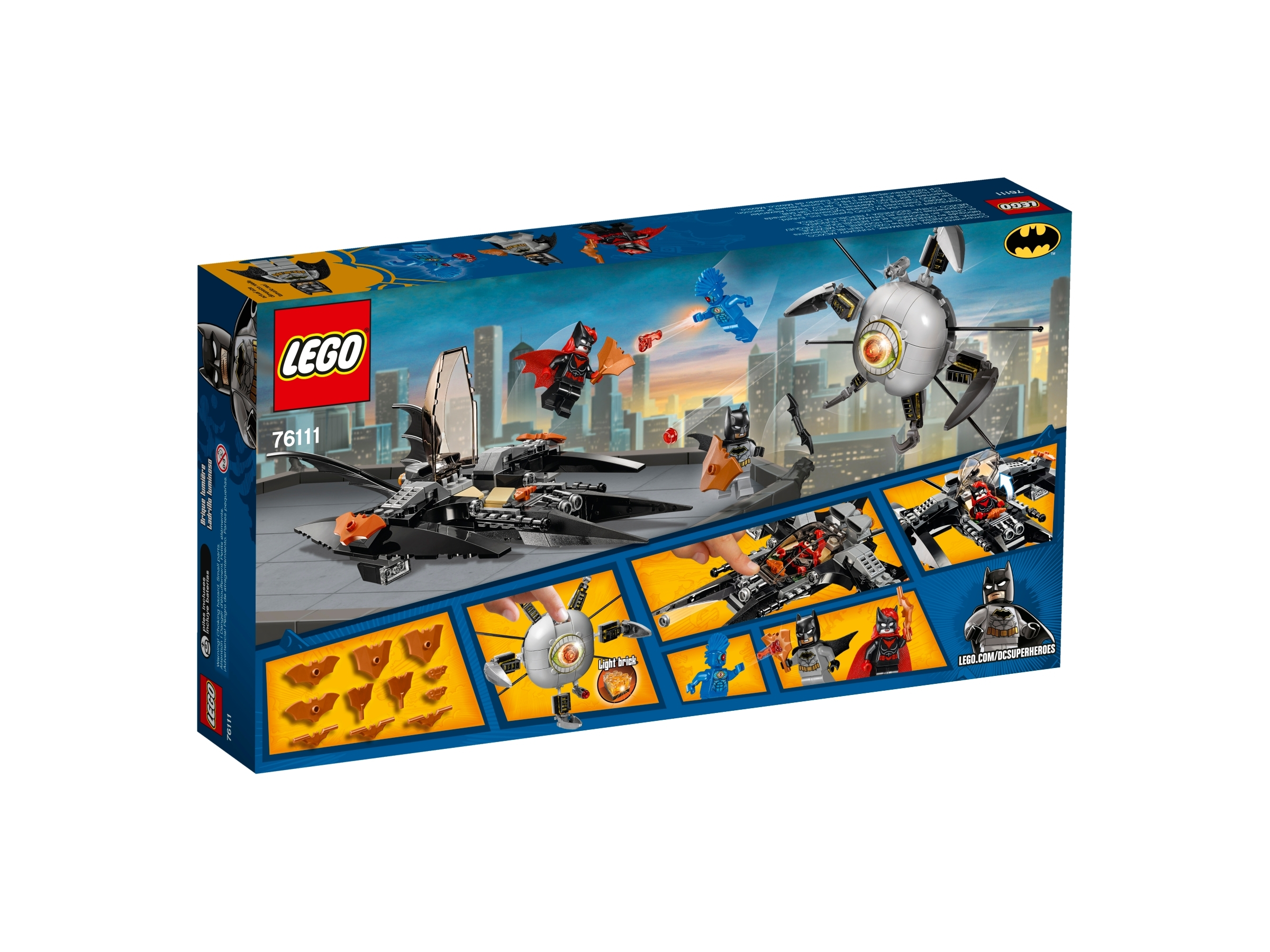 Batwoman Batman OMAC LEGO 76111 Super Heroes Brother Eye Takedown Light Brick