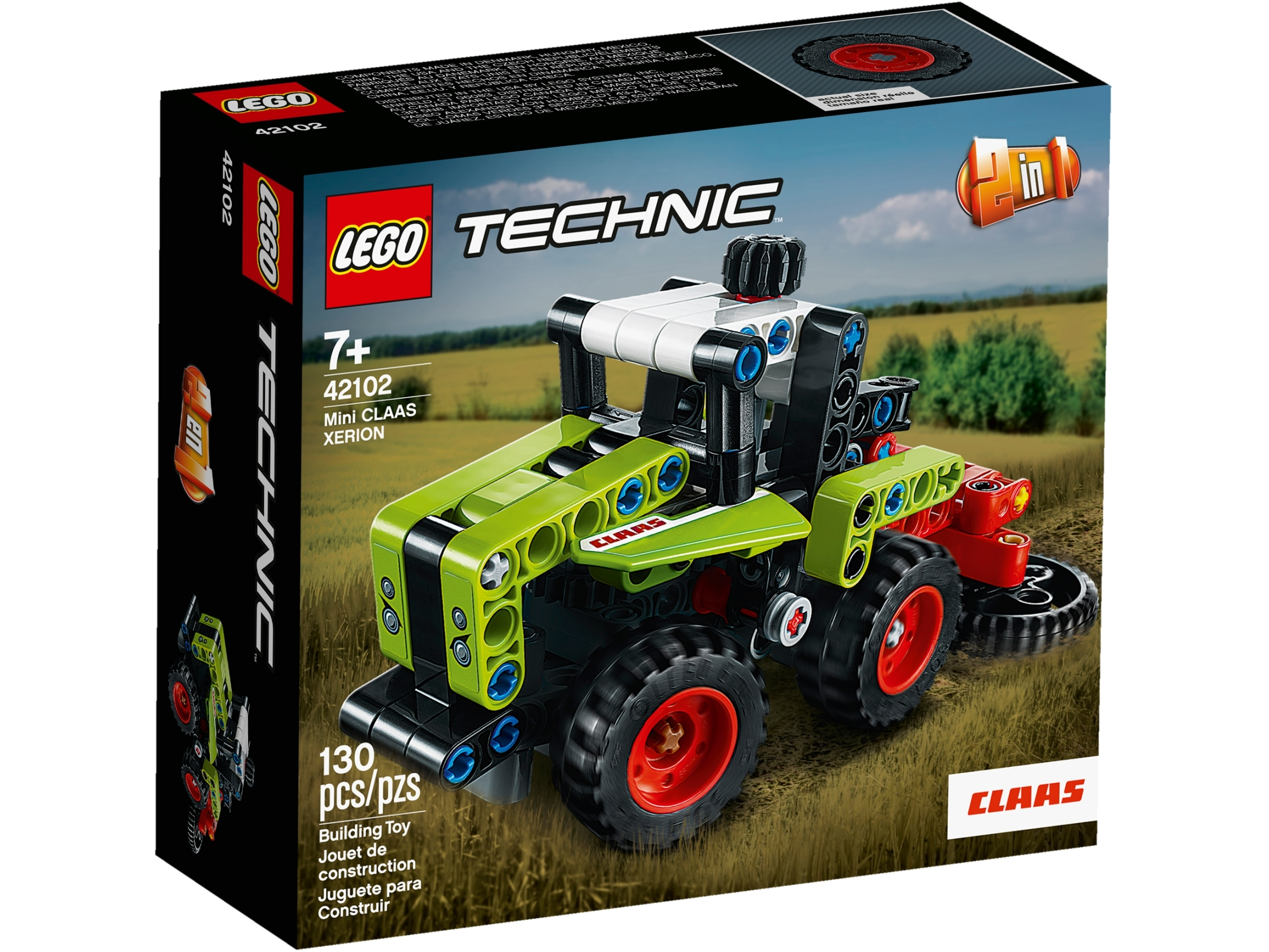 Lego 42102 LEGO Technic Mini CLAAS XERION 42102 Tractor Building Kit 130 Piece
