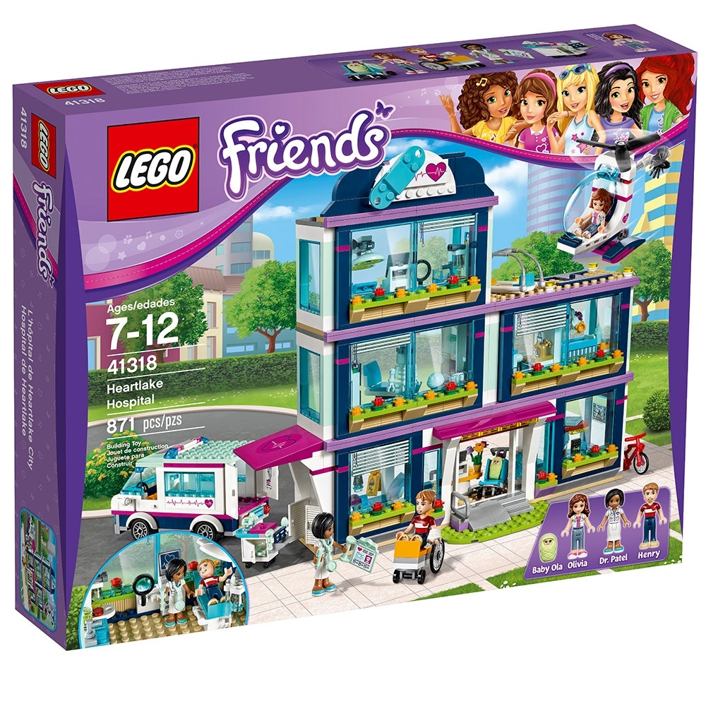 New LEGO Friends Heartlake Hospital 41318 Building 871 Pcs Box Damage PRIORITY