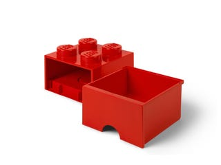 Storage Brick Drawer 4 Red